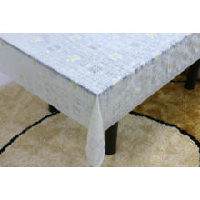 Printed pvc lace tablecloth by roll printing