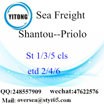 Shantou Port LCL Consolidation To Priolo