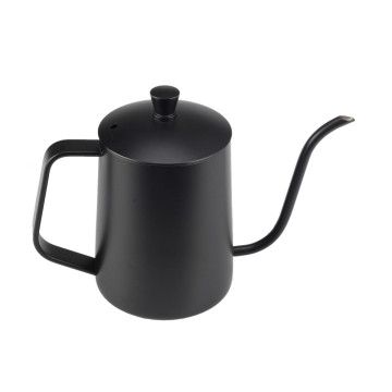 Food Grade Stainless Steel Painting Black Coffee Kettle