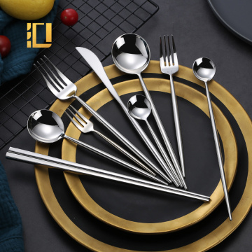 High Quality 304 Stainless Steel Shiny Silver Cutlery Set