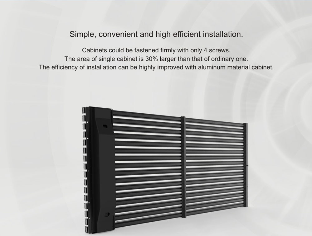 Outdoor Grille Curtain& video media facadeP15.625--04