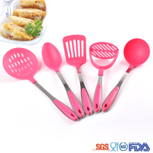 stainless steel kitchen utensil set with stand