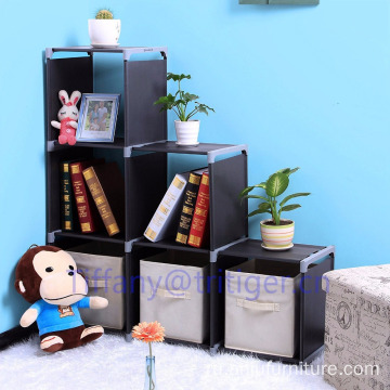 high quality eco-friendly home plastic foldable bookcase