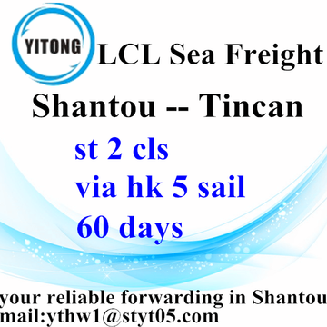LCL BULK operations from Shantou to Tincan