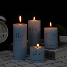 Aroma color pillar candle for gift