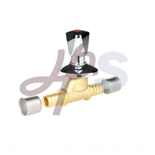 Brass Stop Valve With Ornate Cap Hs08