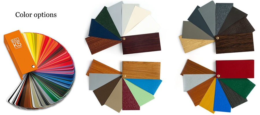 pvc profile laminated color