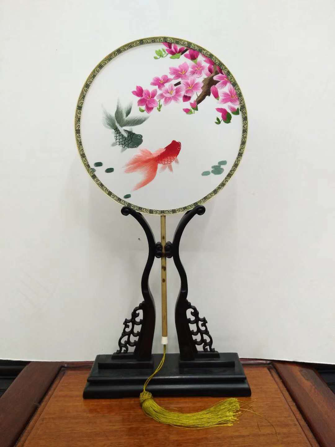 double-sided embroidery fan