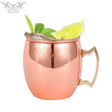 Customized for Drinking Mug,Stainless Steel Wine Glasses,Stainless Steel Wine Cup Manufacturers and Suppliers in China 18OZ Stainless Steel Copper Moscow Mule Cocktail Mug supply to United States Supplier