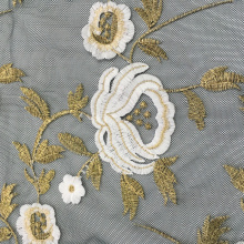 Factory wholesale price for 5Mm Sequins Embroidery Fabric 3D Flower Embroidery On Nylon Mesh export to Congo, The Democratic Republic Of The Factories
