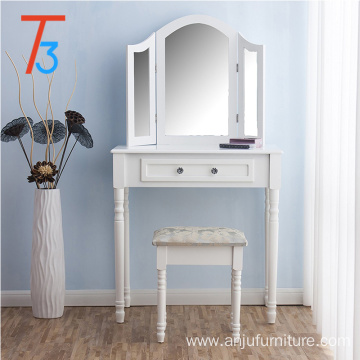 China OEM for Blue Dressing Table white bedroom solid wood makeup dresser table supply to Colombia Wholesale