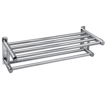 Bathroom Stainless Steel Double Row Towel Rack