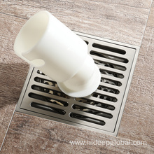 Good Quality for Anti-Odor Brass Floor Drain HIDEEP Square Polished Washing Machine Floor Drain supply to Netherlands Exporter