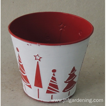 Potted bucket or trash can