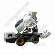 Latest Type 4cbm Self-Loading Concrete Mixer Truck