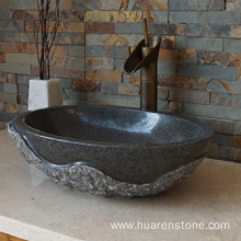 Top for Marble Bathroom Sinks G654 dark grey granite wash basin supply to United States Factories