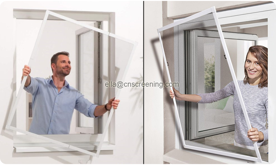 aluminum screen window application