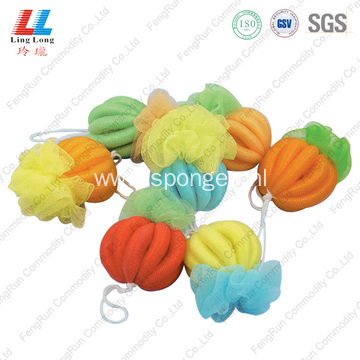 Sponge bath pouf Ball body exfoliating sponge