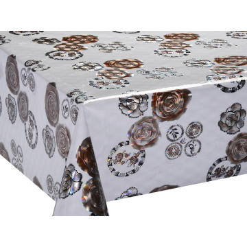 3D Laser Coating Tablecloth 90 Inches