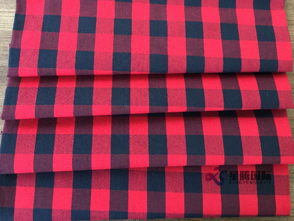 Red 100% Cotton Fabric For Men's Shirts
