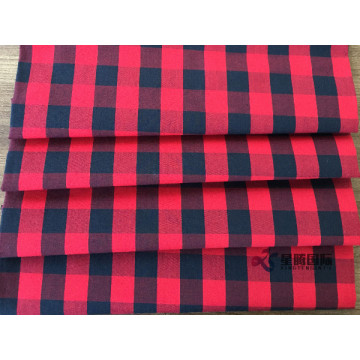 Classic Red And Black Plaid Cotton Apparel Fabric