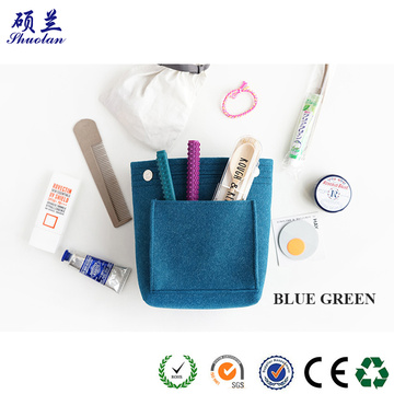 Good quality felt cosmetic bag organizer