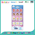 DISNEY EMOJI 12 pack blister card erasers
