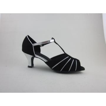 Wholesale Price for Ladies Latin Shoes Girls  black nubuck latin shoes export to Brazil Importers