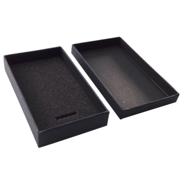 Nice handcraft black two pieces box with foam
