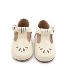 Genuine Leather T Bar Fashion Kids Shoes