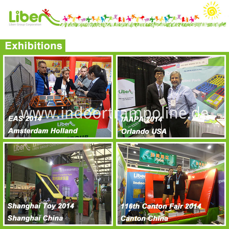 Exhibition of indoor trampoline park
