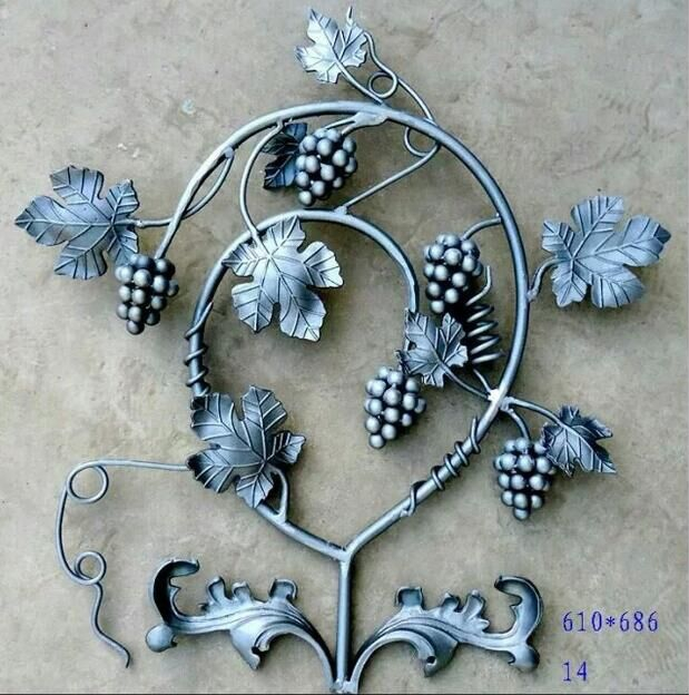 wrought Iron Panels With Grape