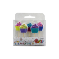 Colorful Birthday Cake Cartoon Candles