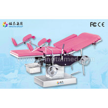 Semi-automatic gynecology surgical table