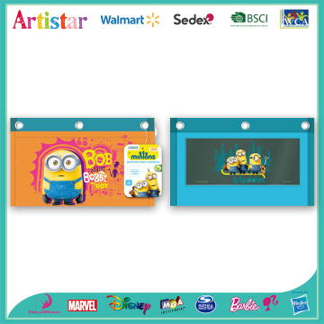 Minions 3-zipper pencil case