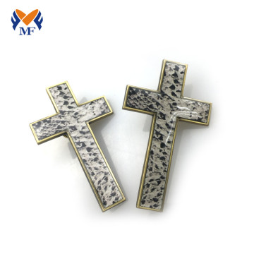 Epoxy printing metal cross pin badge for nurse