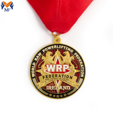 Custom metal award color medals and ribbons