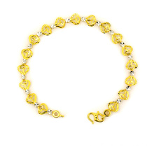 Wholesale Price for K Gold Bracelet Lathe Carved Heart Shaped Charm 22 K Bracelet export to Hungary Suppliers