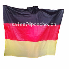 OEM for Colourful PVC Poncho PVC Adult Germany Flag Rain Poncho supply to French Southern Territories Exporter