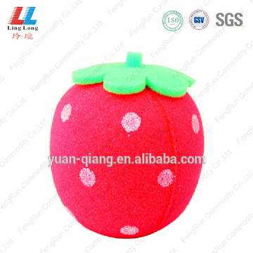 Fruit stawberry comely bath sponge