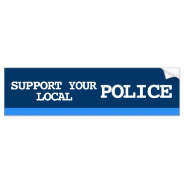 Custom advertising custom police bumper sticker