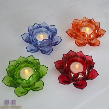 Decorative Colored Lotus Candle Holder