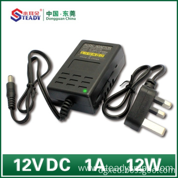 Goods high definition for Power Supply Plug Type Desktop Type Power Adapter 12VDC 1A supply to France Wholesale