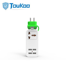 Travel USB changer universal portable power strip