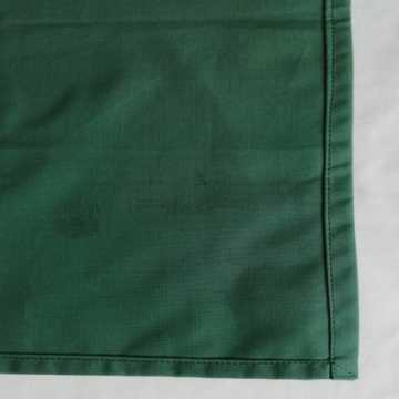 Green Vat Dyed Fenestrated drapes
