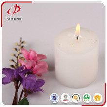 Long burning household decorative round pillar candle