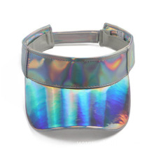Iridescent mirrored plastic visor cap face shield solar
