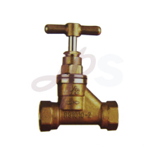 Brass thread stop valve