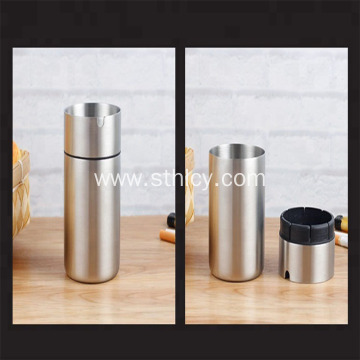 Wholesale Round Standing Stainless Steel Car Ashtray