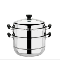 2 Layers Multi Purpose Stainless Steel Steamer Pot